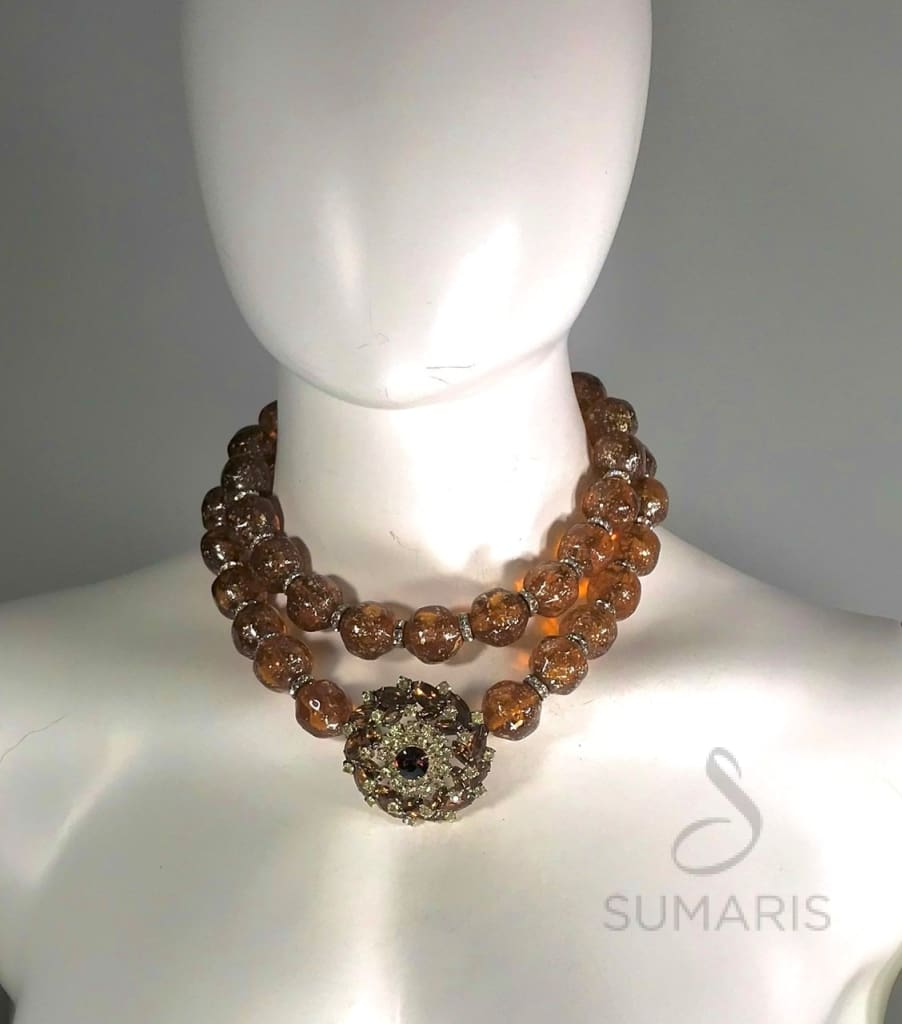 Bronzino Necklace Sumaris Amber / Brown Necklaces Sumaris Bronzino Bronzino