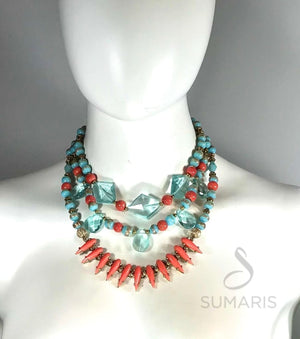 CORAL REEF OOAK STATEMENT NECKLACE Necklace