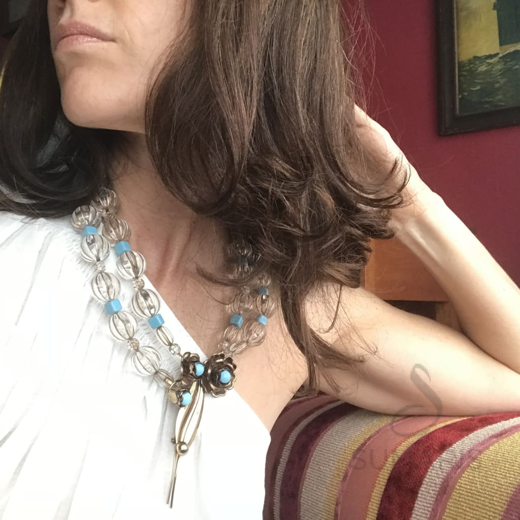 STATEMENT NECKLACE CORNFLOWER