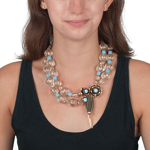 CORNFLOWER OOAK STATEMENT NECKLACE Necklace
