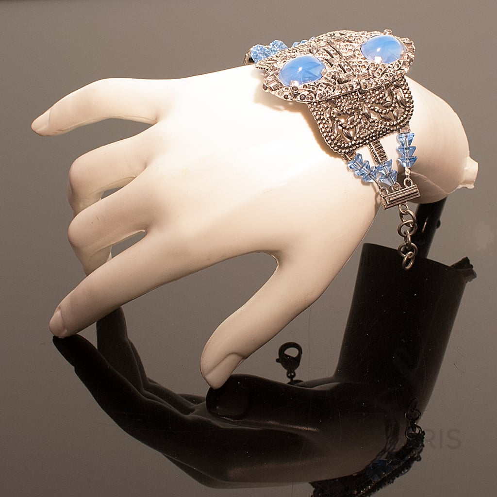 STATEMENT BRACELET DECO BLUE