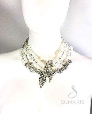 DIAMONDS AND ICE OOAK STATEMENT NECKLACE Necklace