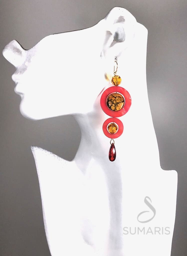 ENCIRCLED ORANGE Earrings