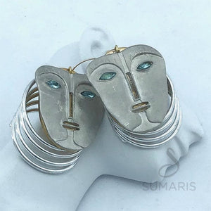 FACE TO FACE LIMITED EDITION STATEMENT EARRINGS