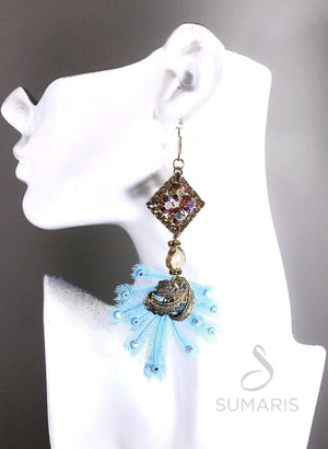 FEATHERY OOAK STATEMENT EARRINGS Earrings