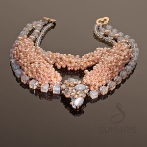 FIZZ Necklace SUMARIS | NEW YORK Blue Costume Jewelry Necklaces Pink / Peach Vintage Brooch $325.00 SUMARIS | NEW YORK
