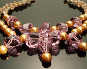 Floridian Necklace Sumaris hidden Necklaces Pink / Peach Sumaris Floridian Floridian