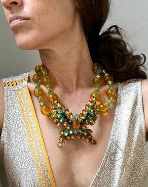 FLUTTER-BY HONEY OOAK STATEMENT NECKLACE