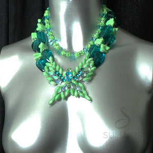 Flutter-By Twice Necklace Sumaris Green hidden Necklaces Sumaris Flutter-By Twice Flutter-By Twice