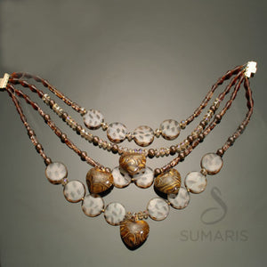 Four In One Necklace Sumaris Amber / Brown hidden Necklaces Sumaris Four In One Four In One