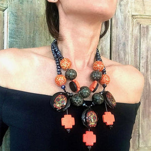 FRIGHT NIGHT OOAK STATEMENT NECKLACE