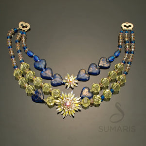 Hearts in Blue Necklace Sumaris Blue hidden Necklaces Sumaris Hearts in Blue Hearts in Blue
