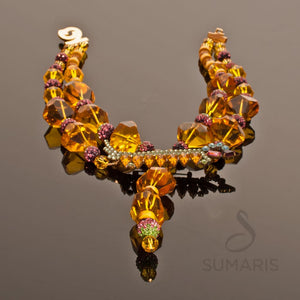 HOT DOG Necklace SUMARIS | NEW YORK Costume Jewelry Necklaces Red / Orange Vintage Brooch $300.00 SUMARIS | NEW YORK