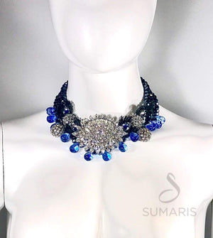 ILL BE WATCHING OOAK STATEMENT NECKLACE Necklace