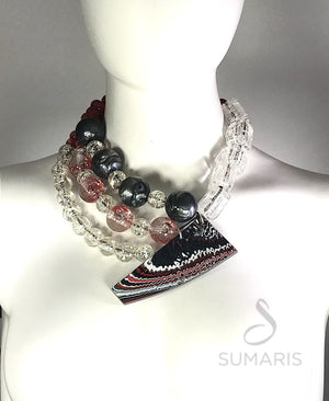 KALEIDOSCOPE OOAK STATEMENT NECKLACE