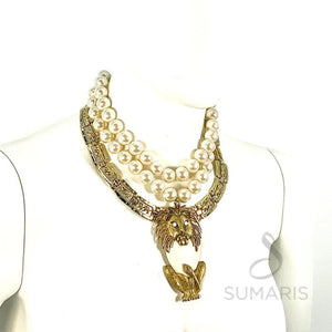 KING OF THE JUNGLE OOAK STATEMENT NECKLACE