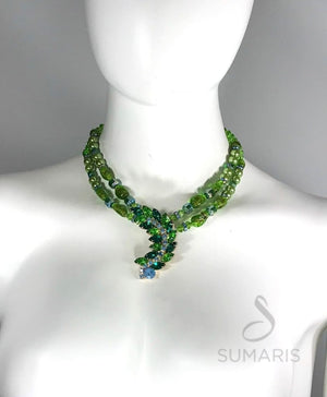 LEAFY GREEN OOAK STATEMENT NECKLACE Necklace