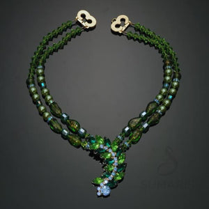 Leafy Green Necklace Sumaris Green Necklaces Sumaris Leafy Green Leafy Green