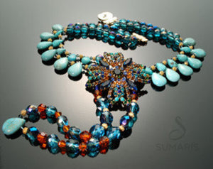 Maltesa Necklace Sumaris Aqua Necklaces Sumaris Maltesa Maltesa