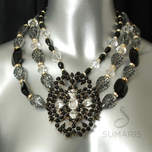 Mambo Necklace Sumaris Black / Grey Necklaces Sumaris Mambo Mambo