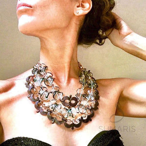 MASQUERADE OOAK STATEMENT NECKLACE