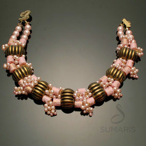 Octavia Necklace Sumaris hidden Necklaces Pink / Peach Sumaris Octavia Octavia
