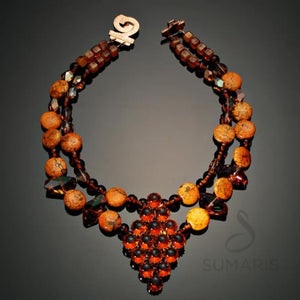 Orangeade Necklace Sumaris Necklaces Red / Orange Sumaris Orangeade Orangeade