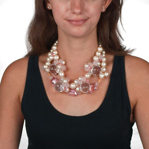 PASS THE BUBBLY Necklace SUMARIS | NEW YORK Costume Jewelry Necklaces Pink / Peach $125.00 SUMARIS | NEW YORK