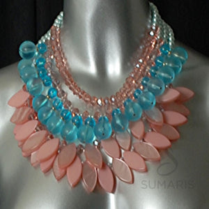 Peach Fandango Necklace Sumaris hidden Necklaces Pink / Peach Sumaris Peach Fandango Peach Fandango