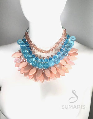 PEACH FANDANGO - OOAK STATEMENT NECKLACE Necklace