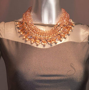 Peach Razzle Dazzle Necklace