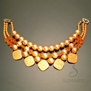 Peach Melba Necklace Sumaris hidden Necklaces Red / Orange Sumaris Peach Melba Peach Melba
