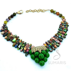PICASSO'S GRAPES OOAK STATEMENT NECKLACE