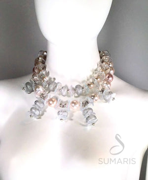 PINK ICE - OOAK STATEMENTNECKLACE Necklace