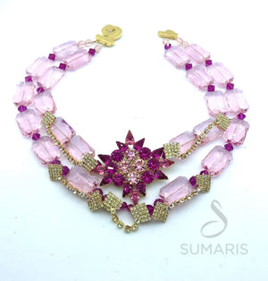 PINK POINTS OOAK STATEMENT NECKLACE Necklace