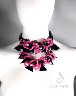 PINK/BLACK MADNESS Necklace