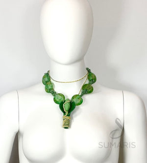 POP YOUR CORK OOAK STATEMENT NECKLACE