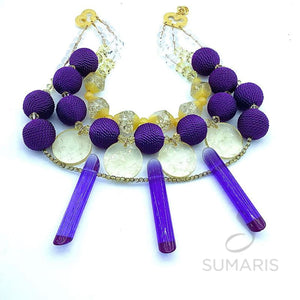 PURPLE PROSE STATEMENT NECKLACE