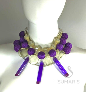 DEEP PURPLE STATEMENT NECKLACE Necklace