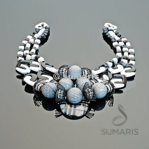 Puzzled Necklace Sumaris Black / Grey Necklaces New Designs White / Clear Sumaris Puzzled Puzzled