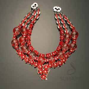 Red Queen Necklace Sumaris Necklaces Red / Orange Sumaris Red Queen Red Queen