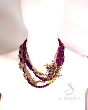 REIGNING PURPLE OOAK STATEMENT NECKLACE Necklace