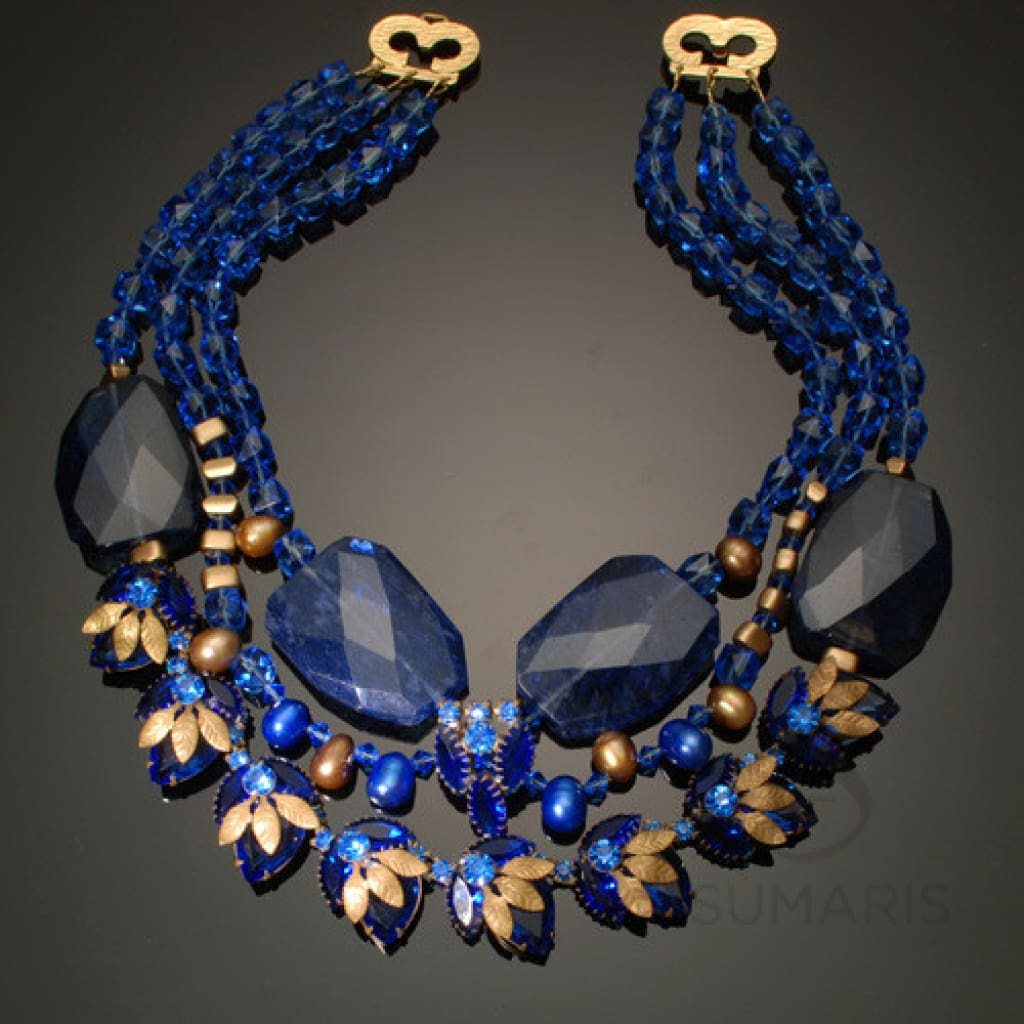 Royalty Necklace Sumaris Blue Gold-colored Necklaces Women Sumaris Royalty Royalty