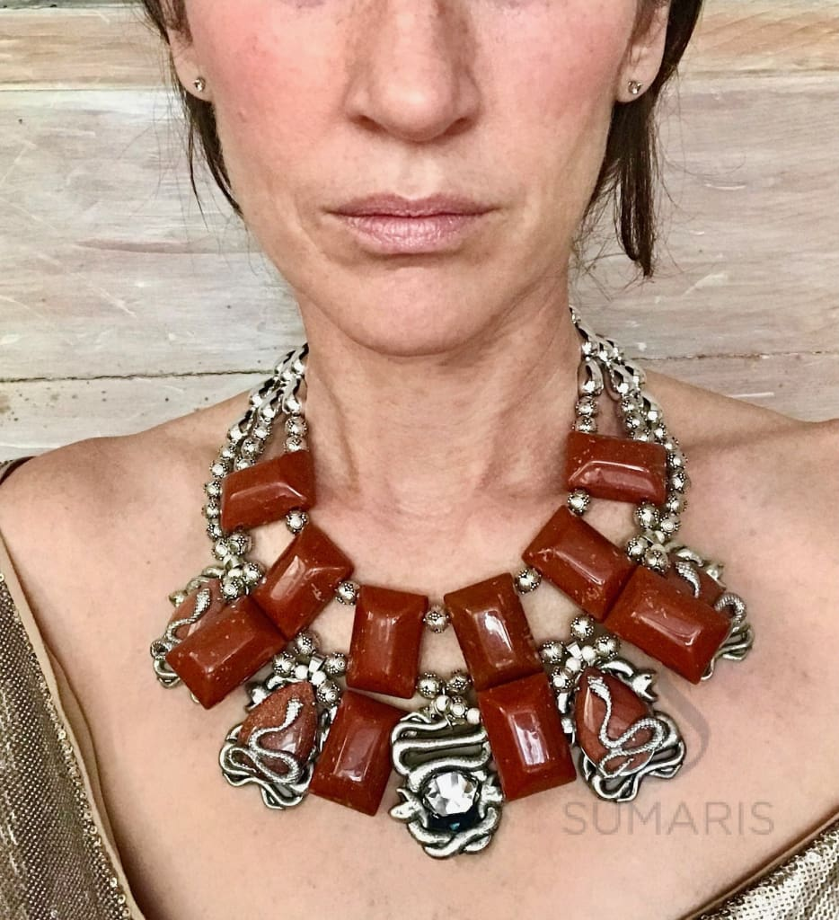SNAKE PIT OOAK STATEMENT NECKLACE