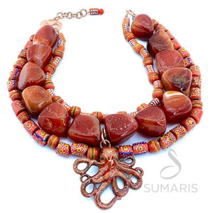 SOLO OCTOPUS OOAK STATEMENT NECKLACE
