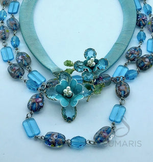 SPRING OOAK STATEMENT NECKLACE