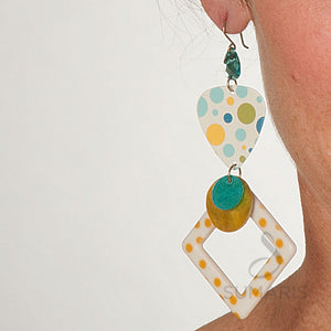 Square Dots Earrings