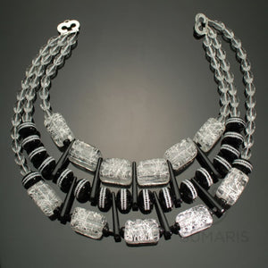 Squiggle Necklace Sumaris beautiful costume jewelry Black / Grey Necklaces White / Clear Women Sumaris Squiggle Squiggle