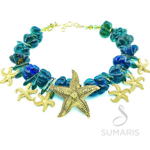 STARFISH FAMILY OOAK STATEMENT NECKLACE
