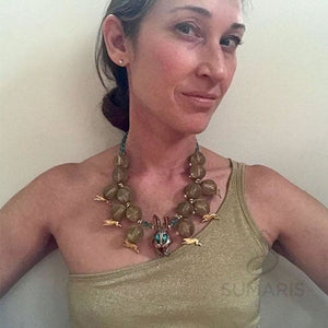 STEEPLECHASE OOAK STATEMENT NECKLACE